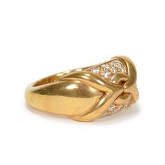 Bulgari diamond gold band ring 2