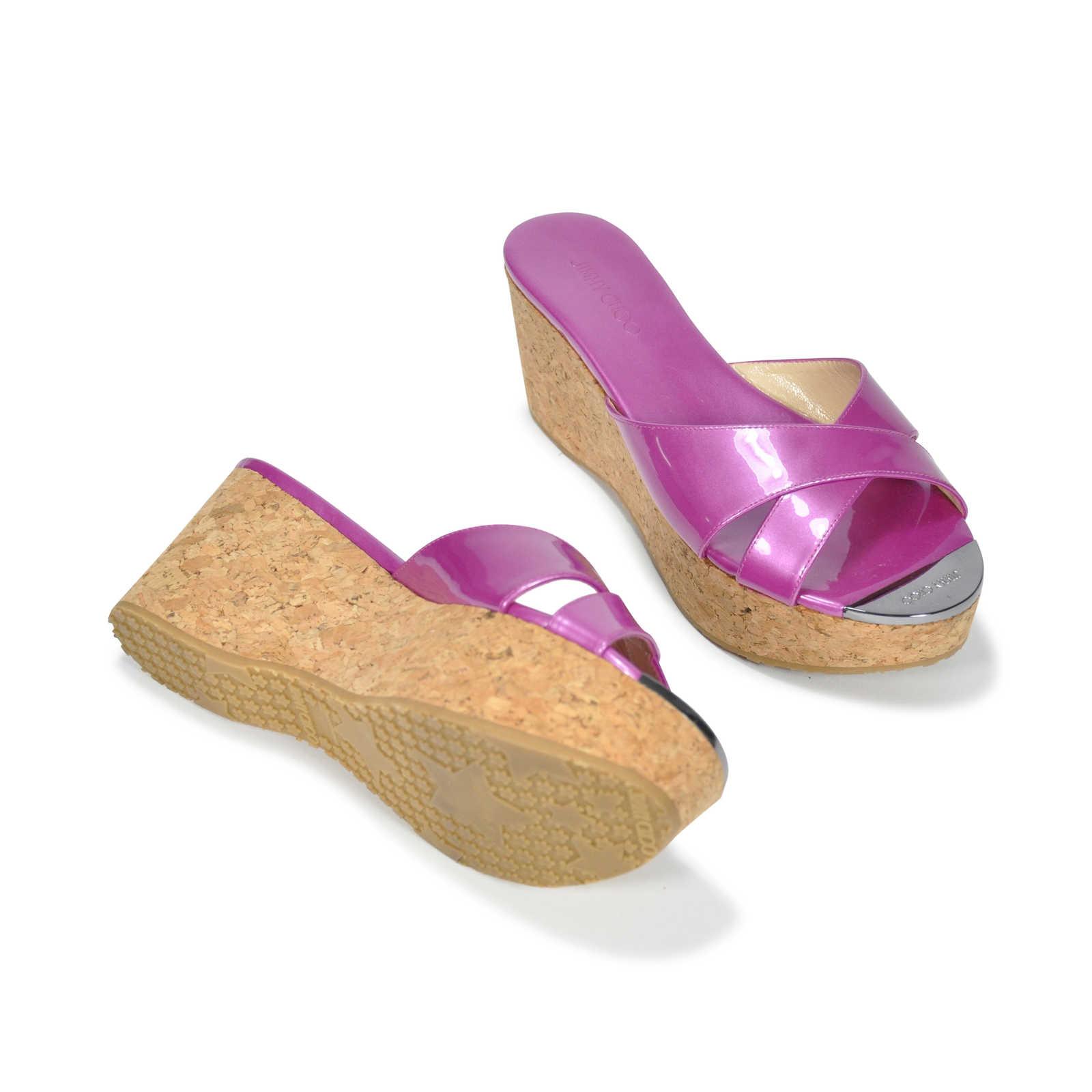 Second Hand Jimmy Choo Prima Wedge Sandals