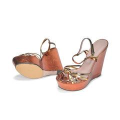 Gucci platform wedge sandals 2