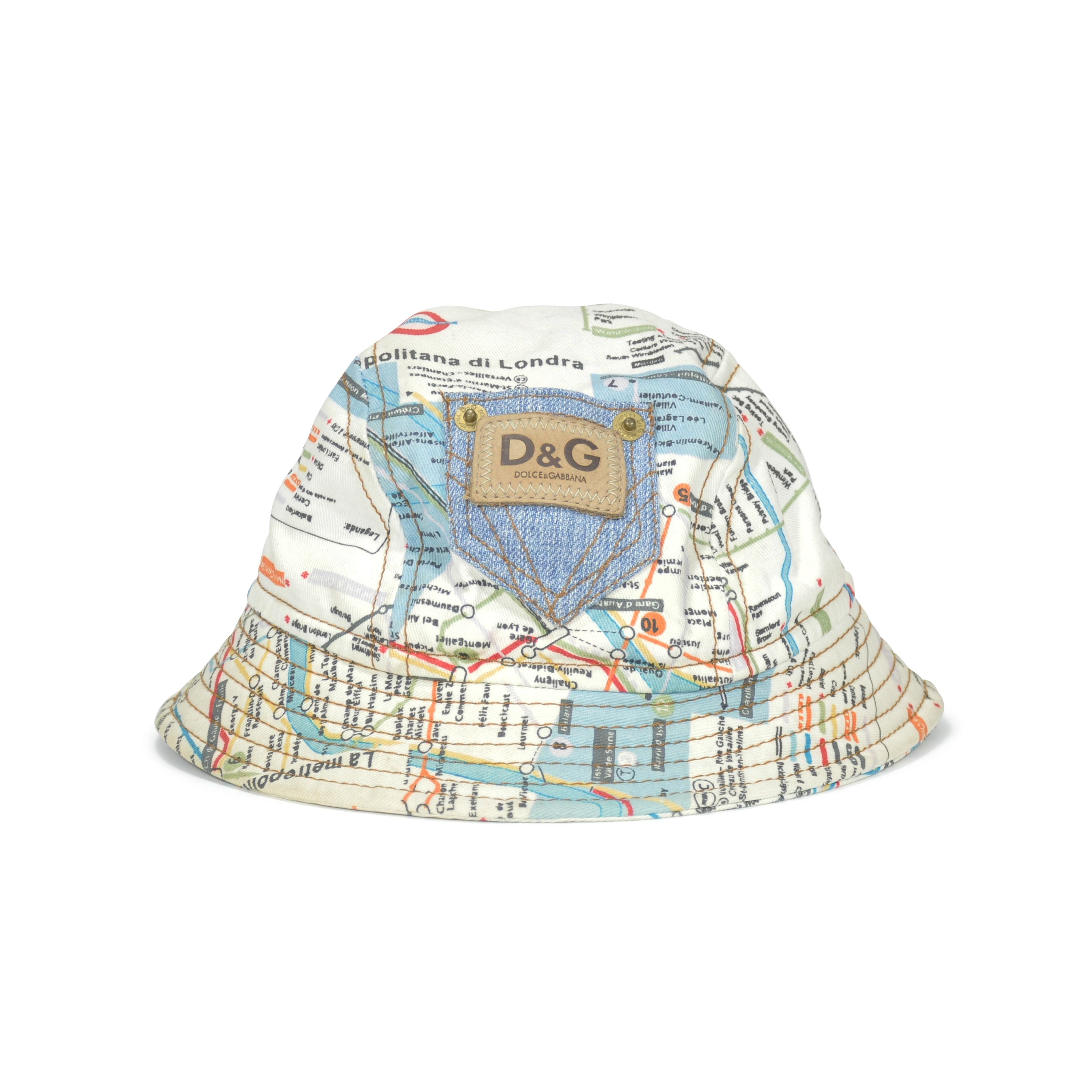 14f00da0074 Authentic Second Hand D G Map Bucket Hat (PSS-240-00012)