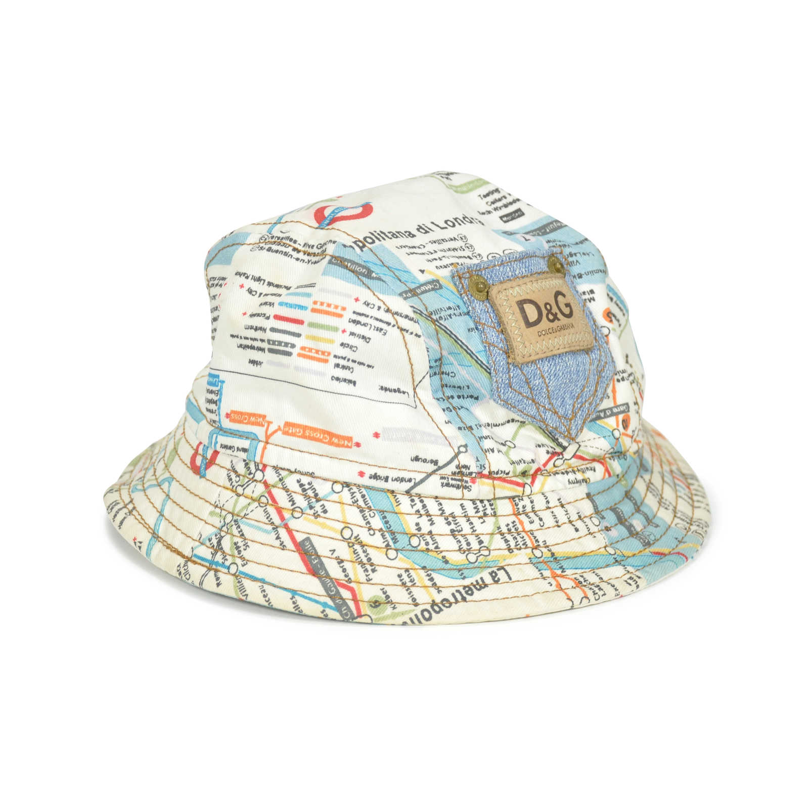 d8c980108ad ... Authentic Second Hand D G Map Bucket Hat (PSS-240-00012) - Thumbnail ...