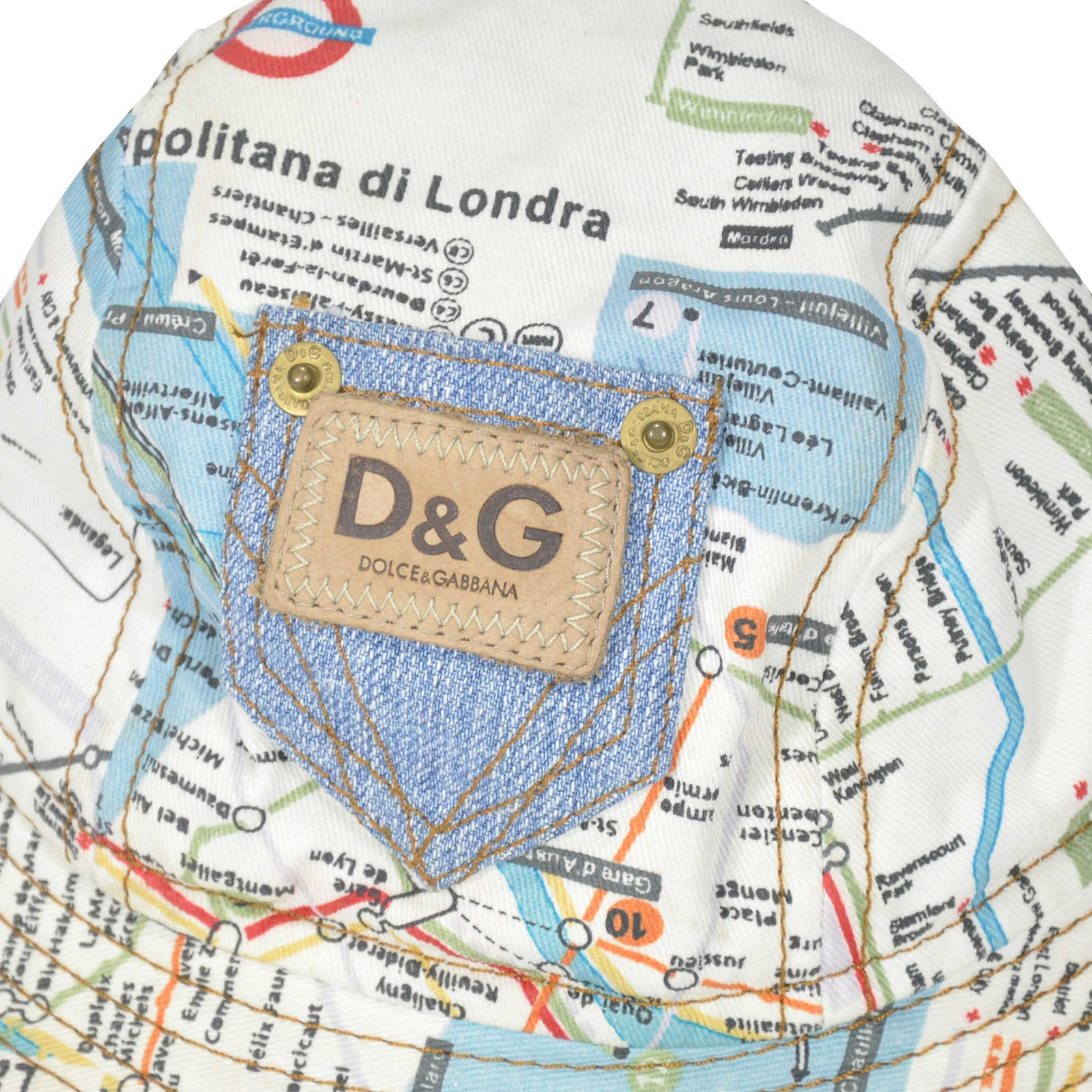 aef3901d2e1 ... Authentic Second Hand D G Map Bucket Hat (PSS-240-00012) - Thumbnail ...