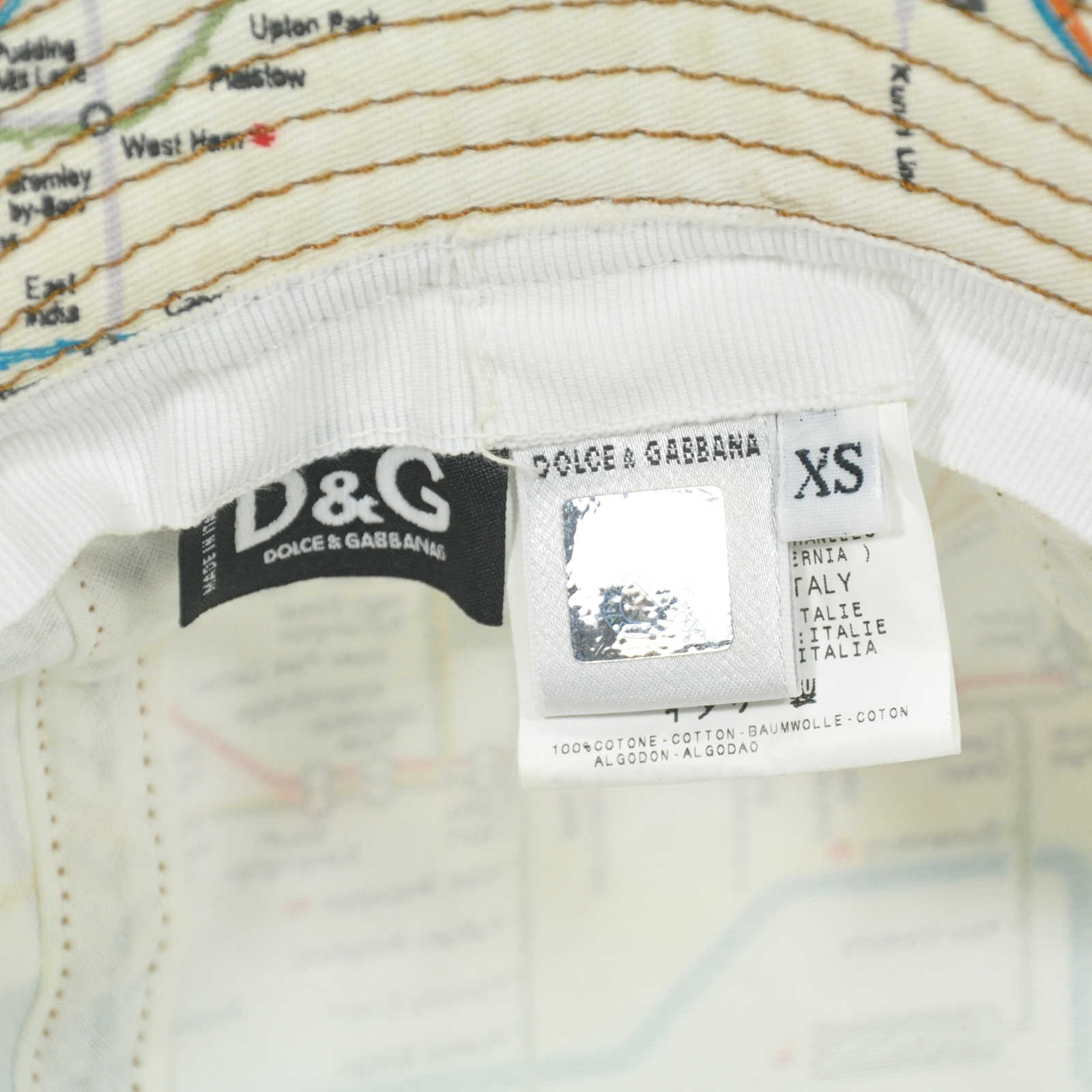 6021a131bb6 ... Authentic Second Hand D G Map Bucket Hat (PSS-240-00012) - Thumbnail