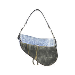 Christian dior denim print saddle bag 2