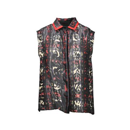 Authentic Second Hand Preen by Thornton Bregazzi Tartan Leopard Shirt (PSS-235-00032)