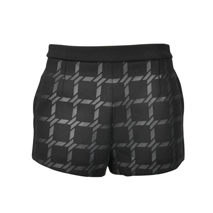 T By Alexander Wang Grid Print Shorts