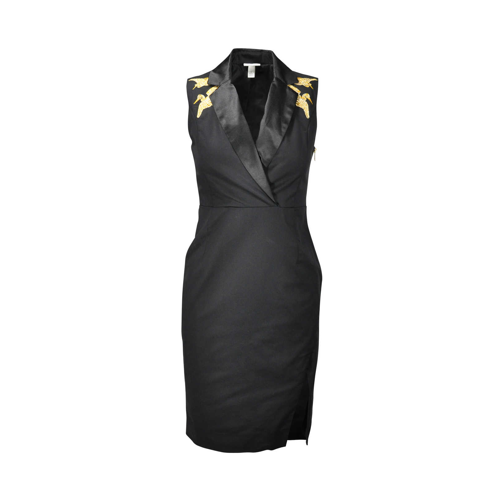 Second Hand Altuzzura Target Crane Embroidered Dress Black The