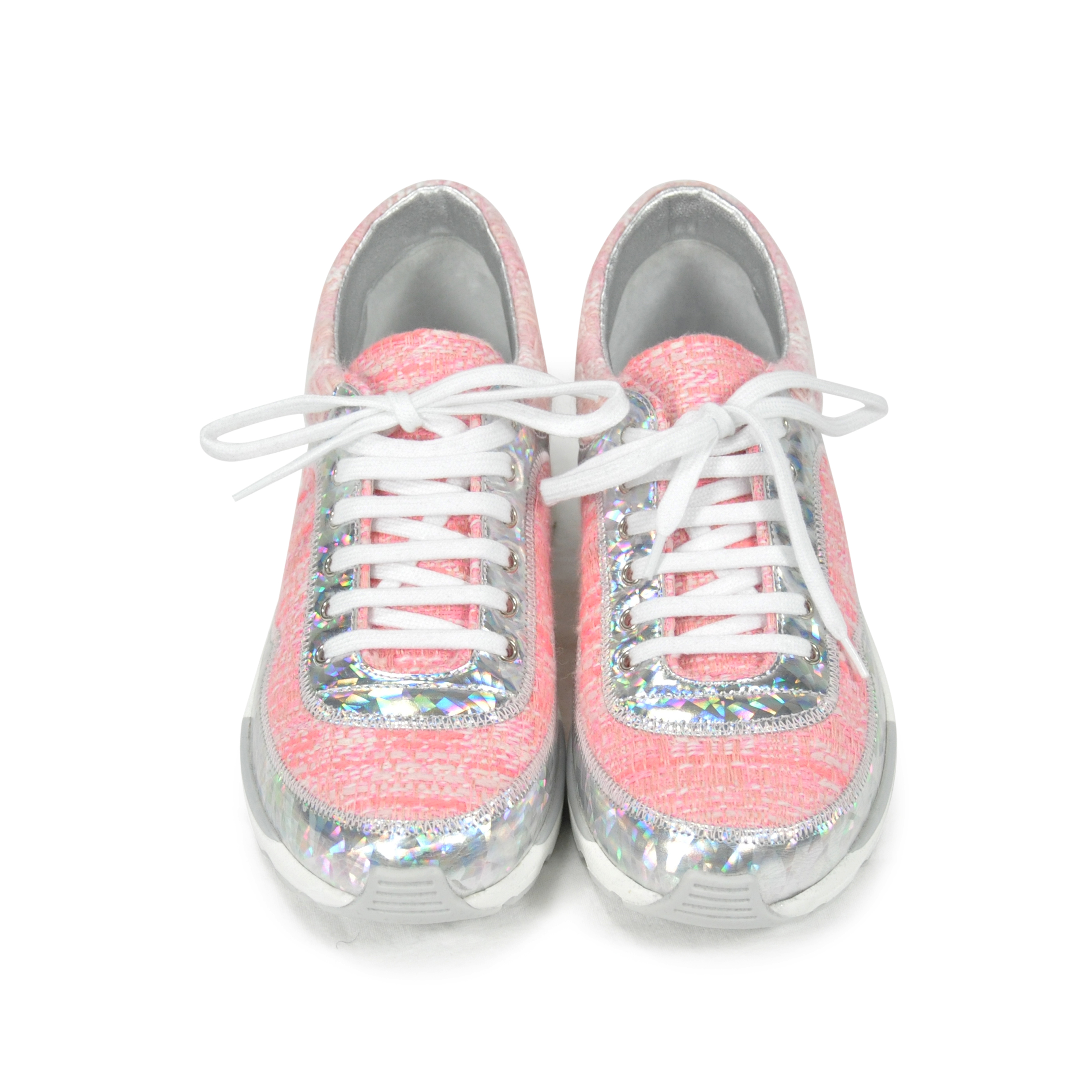 296eef306 Authentic Second Hand Chanel Tweed Lace Up Sneakers (PSS-200-00253) - THE  FIFTH COLLECTION