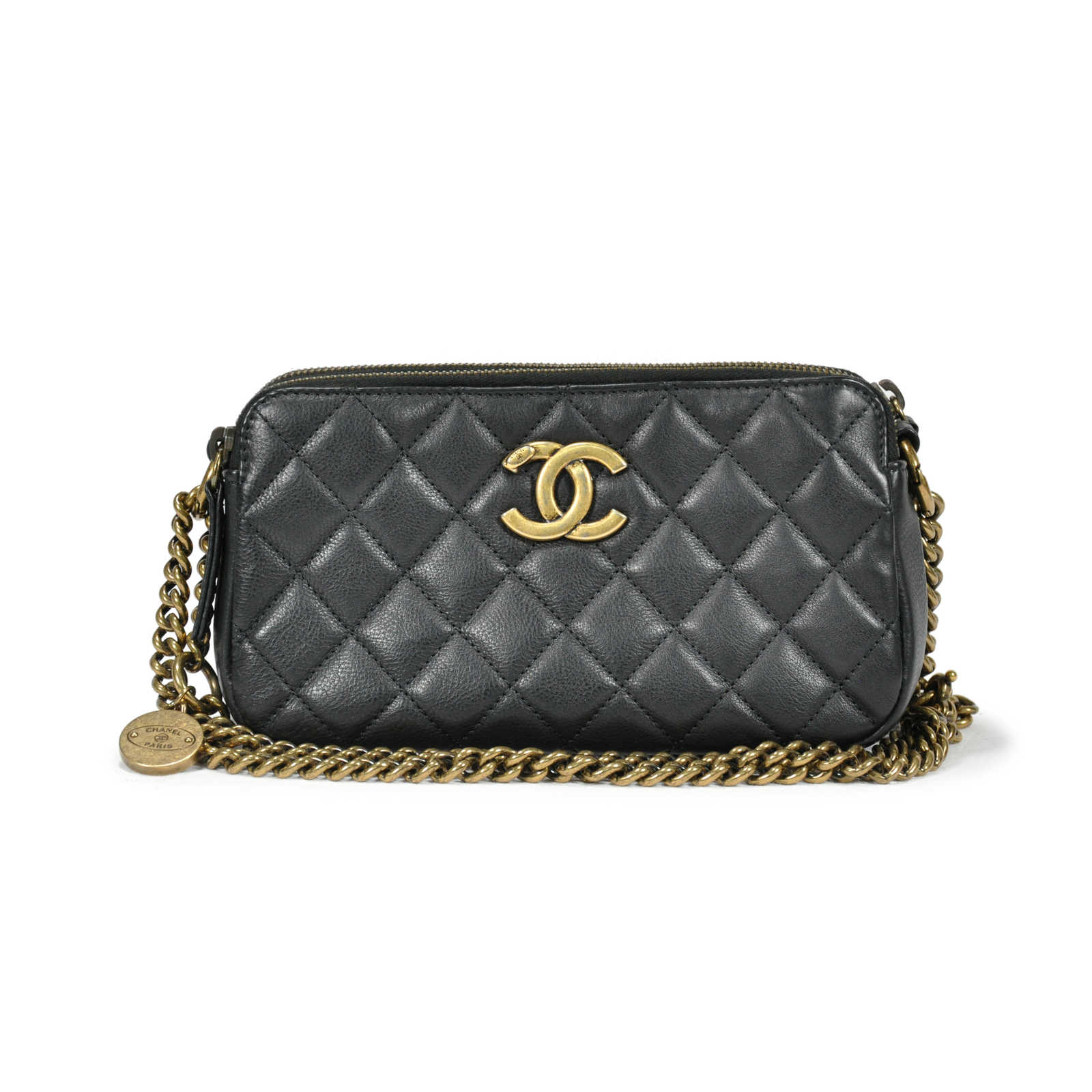 4106bbe2b4b67 Authentic Second Hand Chanel CC Crown Double Zip bag (PSS-145-00088 ...