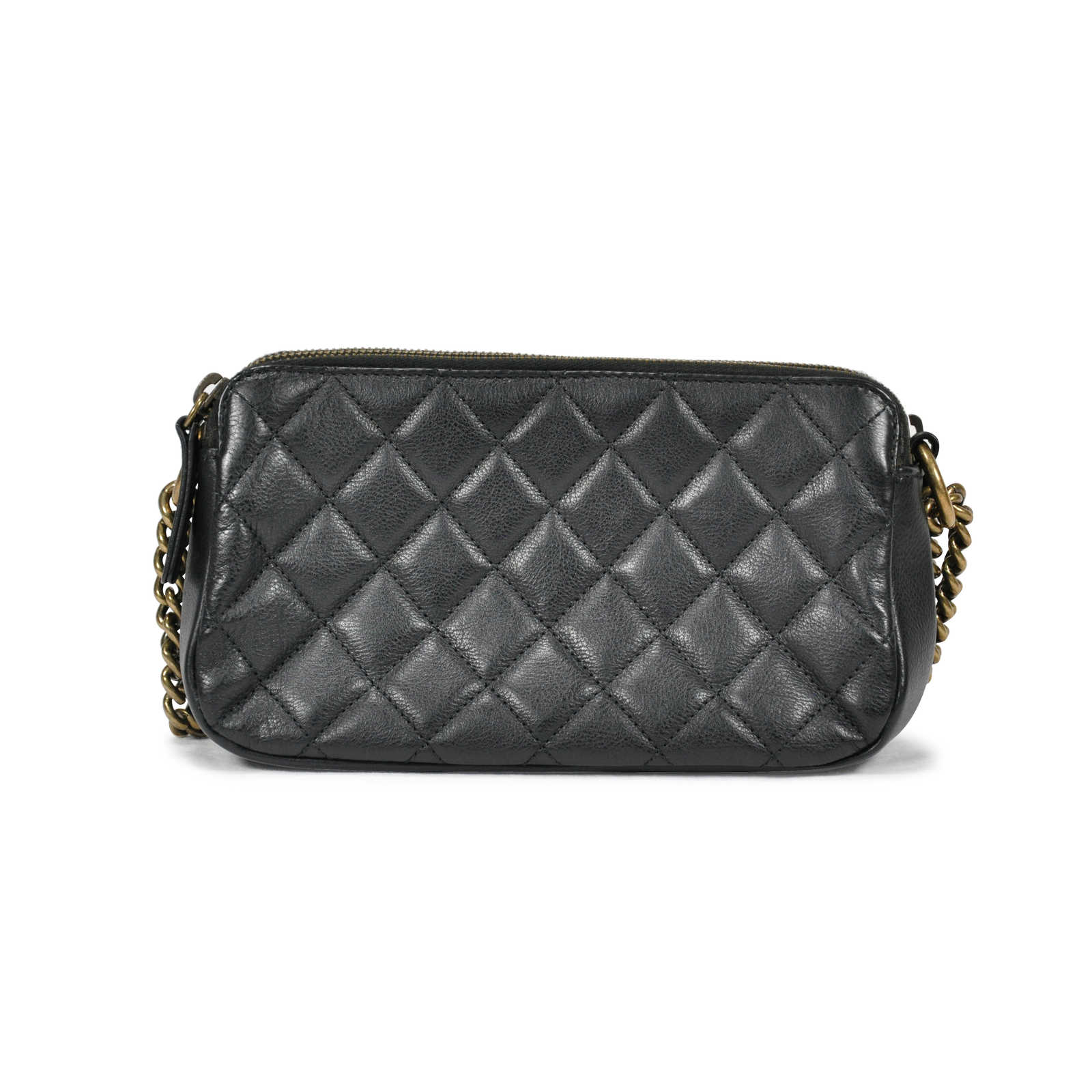 e1677ddd4c15 ... Authentic Second Hand Chanel CC Crown Double Zip bag (PSS-145-00088) ...