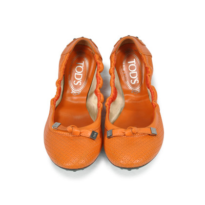 Authentic Second Hand Tod's Perforated Ballerina Flats (PSS-243-00002)