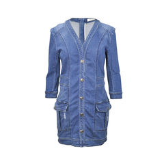 Destroyed Denim Cotton Dress