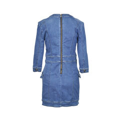 Pierre balmain destroyed denim cotton dress 2