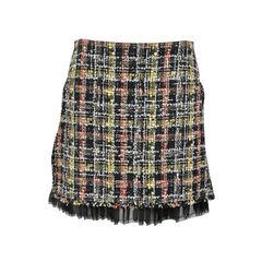 Tweed Layered Pleat Skirt