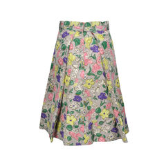 Marc jacobs floral a line skirt 2