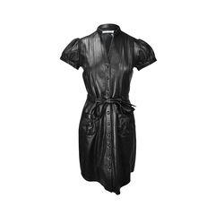 Black Lambskin Dress