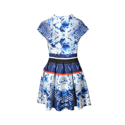 Authentic Second Hand Nicholas Abstract Floral Pleat Dress (PSS-236-00010)