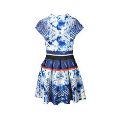 Abstract Floral Pleat Dress