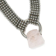 Giorgio armani pink quartz necklace 2