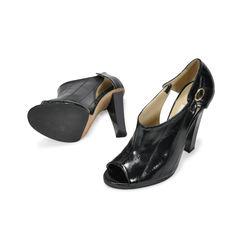 Jimmy choo black heels in eel skin 2