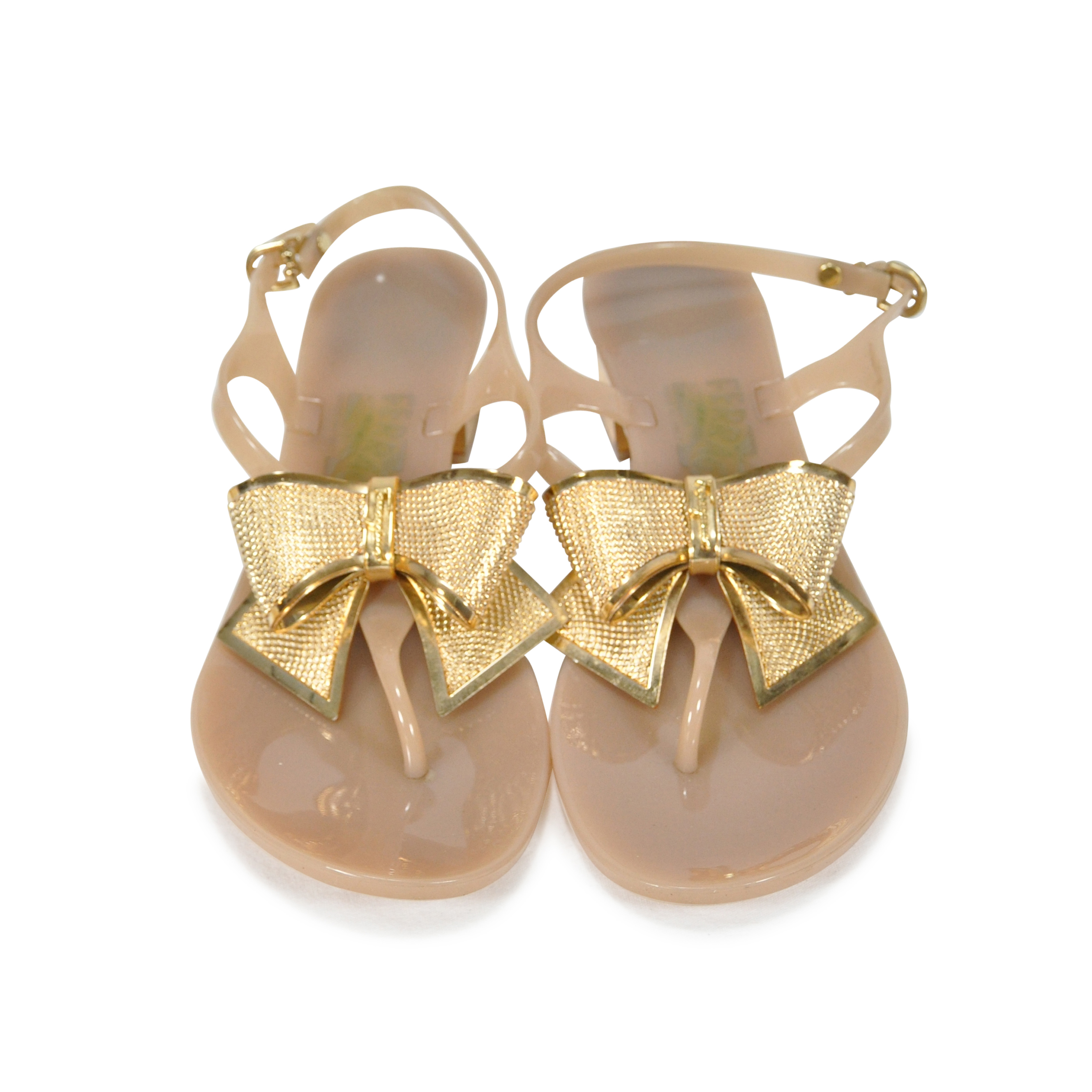 2a7a50d9fc0a Authentic Second Hand Salvatore Ferragamo Bali Metal Bow Jelly Sandals  (PSS-247-00009)