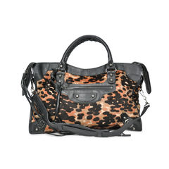 Leopard Ponyhair City Bag