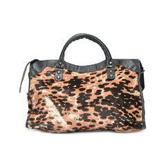 Balenciaga leopard ponyhair city bag 2