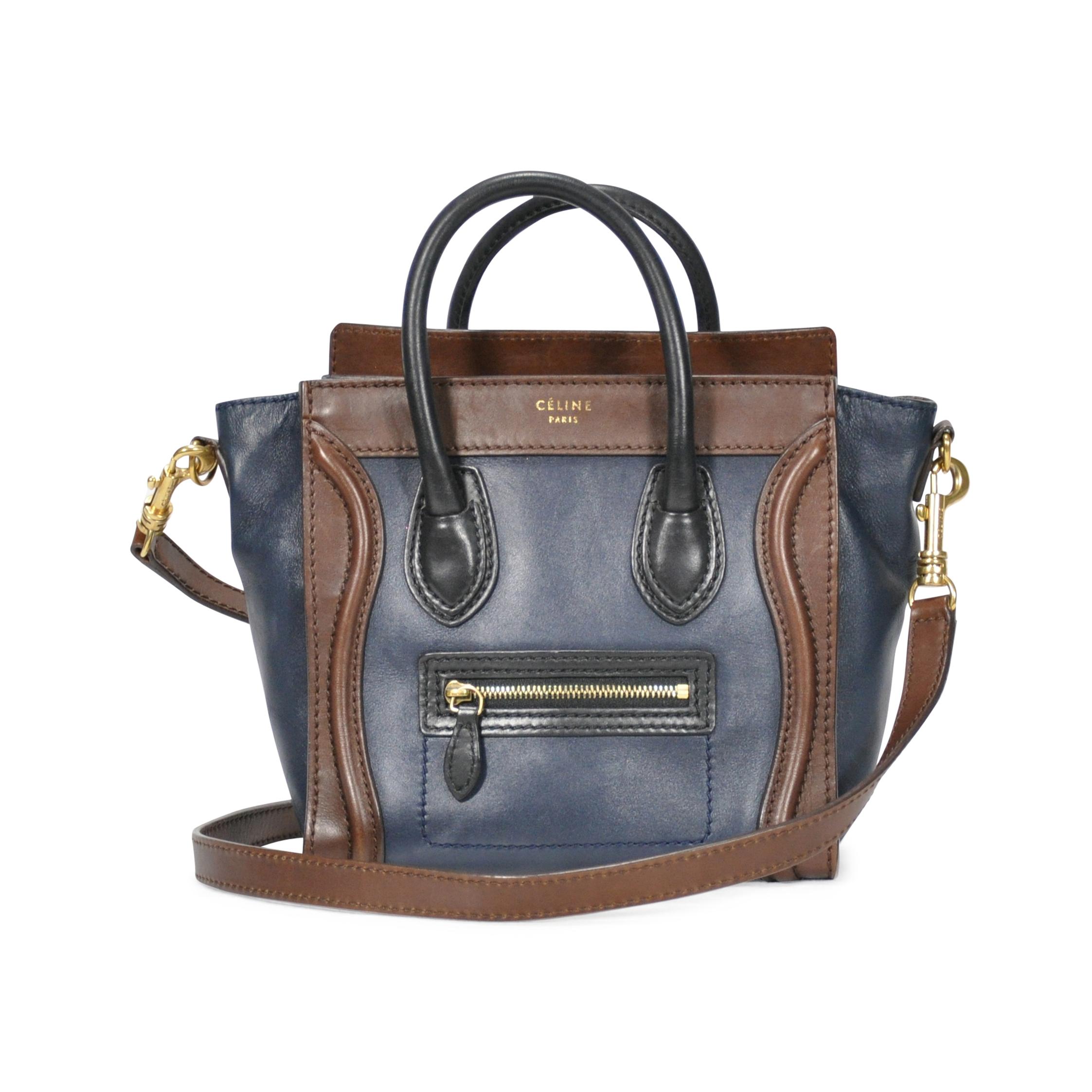 55dd1507d5c8 Authentic Second Hand Céline Tri Coloured Nano Bag (PSS-249-00009 ...