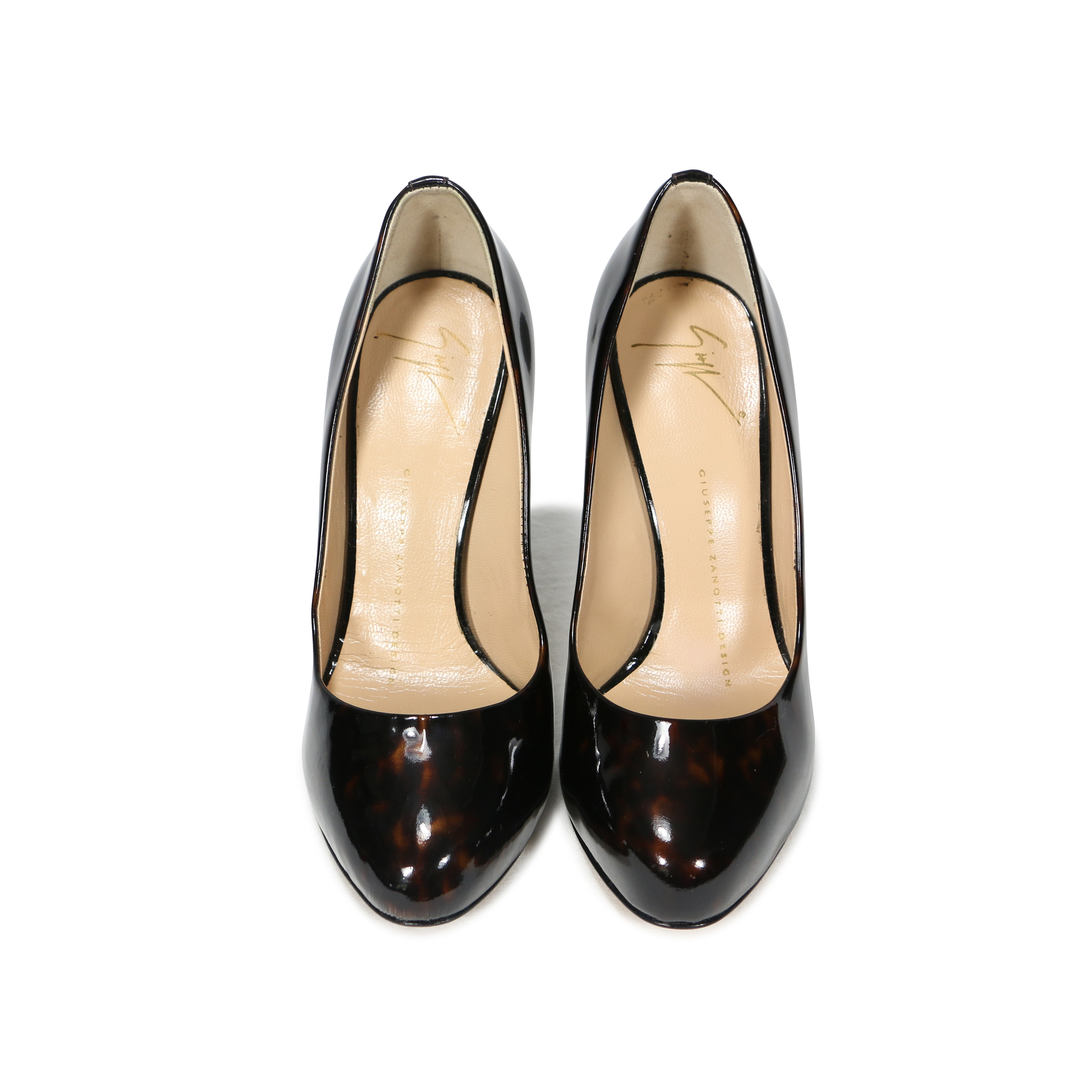 4e8c1994f8b4f Authentic Second Hand Giuseppe Zanotti Tortoise Patent Pumps  (PSS-255-00009) - THE FIFTH COLLECTION
