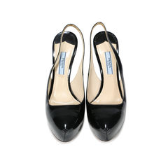Patent Leather Platform Slingbacks
