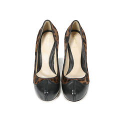 Leopard Pony Hair Pumps