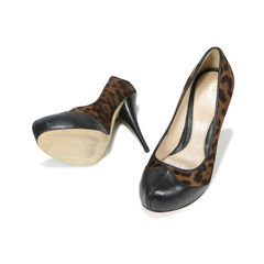 Fendi leopard pony hair pumps 2