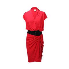 V-Neck Drape Dress
