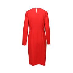 Halston heritage keyhole long sleeve tunic dress 1