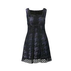 Lattice Trimmed Dress