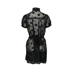 Anna sui sheer polka dot dress 2