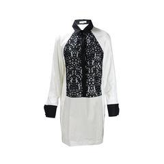 Lace Tuxedo Shirt