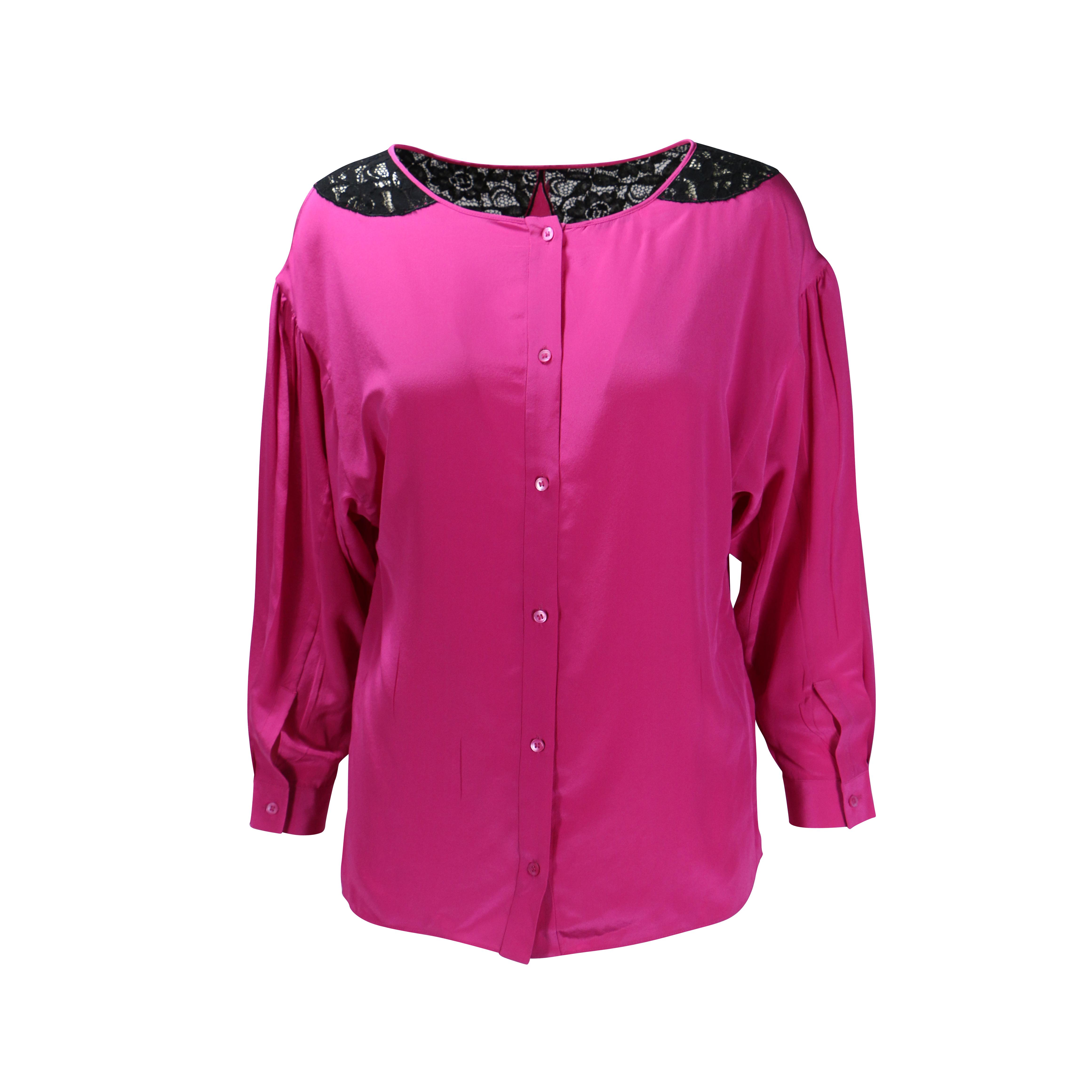 824792f338f32 Authentic Second Hand Miu Miu Silk Lace Top (PSS-200-00132)