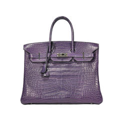 Amethyst Alligator Birkin 35
