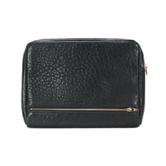 Alexander wang fumo ipad case in black pebble leather with rosegold 2