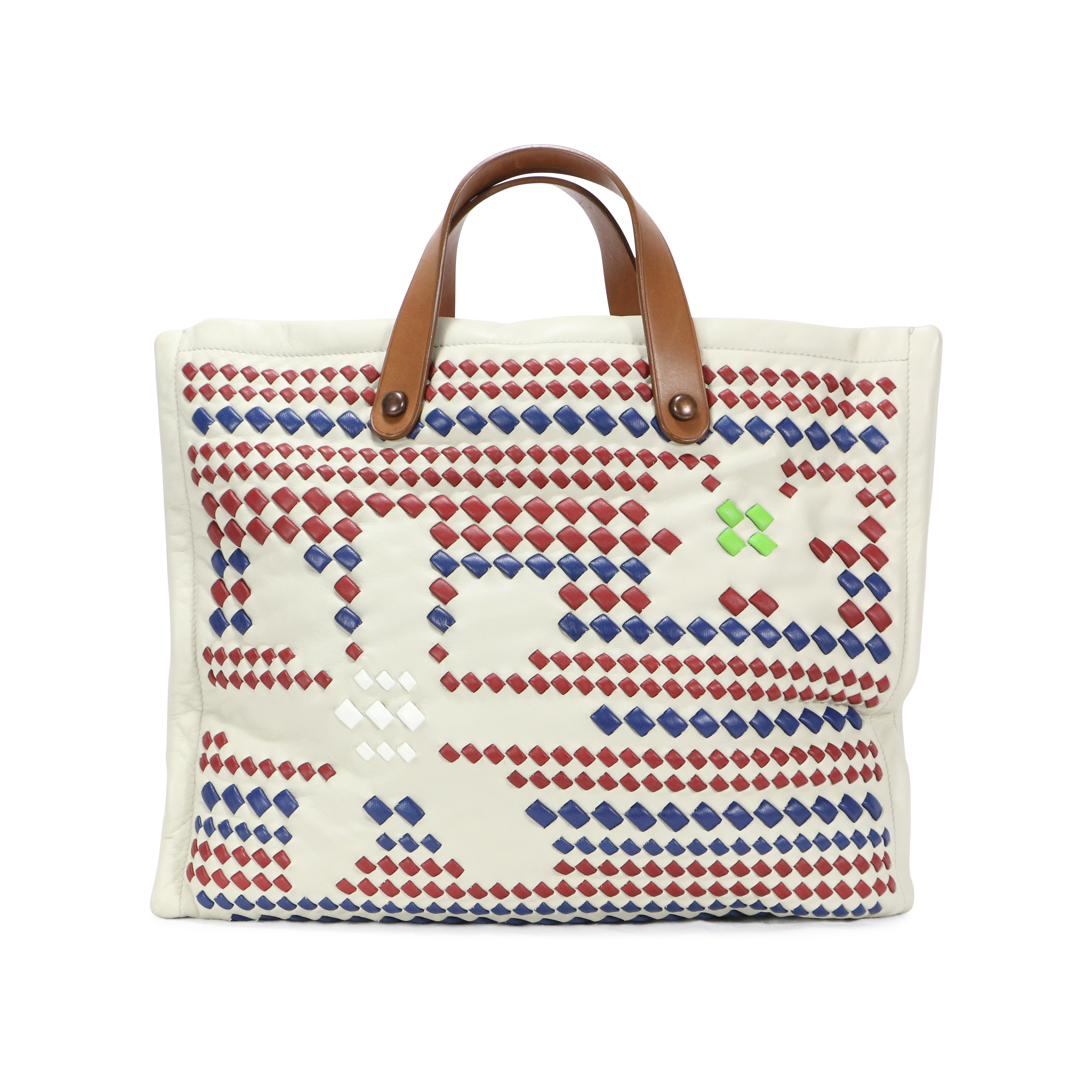 4f873f0e52 Authentic Second Hand Bottega Veneta Woven Flower Tote Bag (PSS-200-00297)