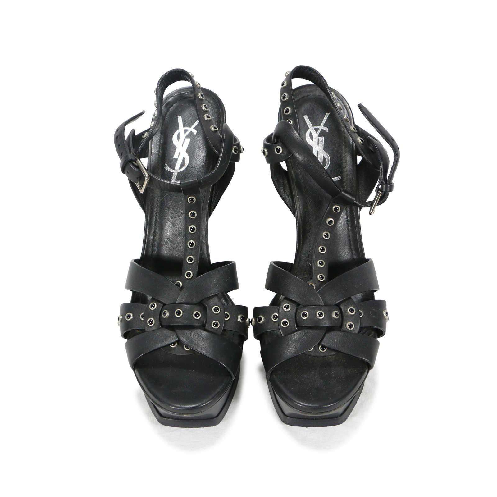c2c1d228ea Authentic Second Hand Yves Saint Laurent Studded Tribute Sandals ...