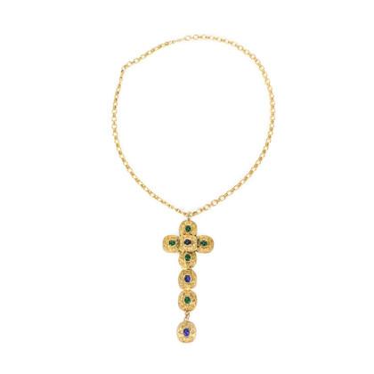 Chanel Byzantine Large Cross Necklace