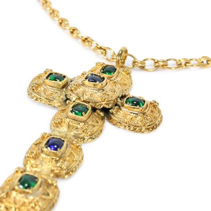 Authentic Vintage Chanel Byzantine Large Cross Necklace (TFC-203-00025)