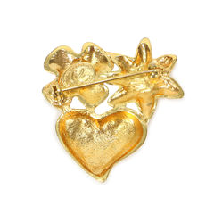 Christian lacroix heart and clover brooch 2