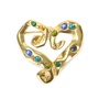 Authentic Vintage Shalala Crystal Heart Brooch (TFC-203-00028) - Thumbnail 0