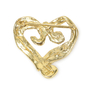 Authentic Vintage Shalala Crystal Heart Brooch (TFC-203-00028) - Thumbnail 1