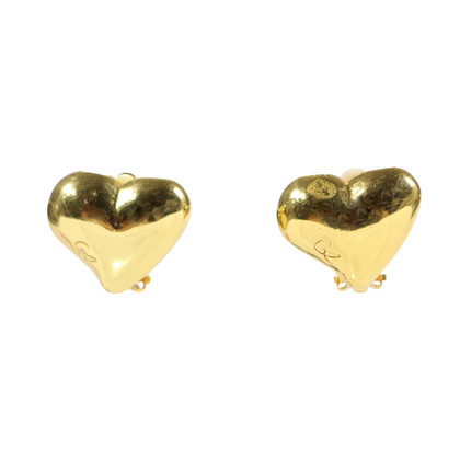Authentic Vintage Christian Lacroix CL' Heart Earrings (TFC-203-00031)