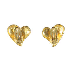 Christian lacroix brushed metal stone heart earrings 2