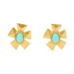 Flower Turquoise Earrings